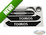 Sticker Tomos Automatic white / black set universal