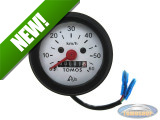 Speedometer kilometer 60mm 60 km/h white Original Tomos