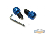 Handle bar damper kit round blue