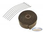 Exhaust heatwrap titanium (5 cm x 5 meter)