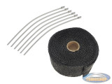 Exhaust heatwrap black (5 cm x 5 meter)