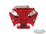 Tail light Maltese cross chrome