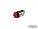 Lightbulb BA15 12V 10 Watt red (for lexus taillight)
