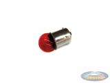 Lamp BA15 12V 10 Watt rood (voor lexus achterlicht)