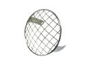Headlight grill round 130mm chrome