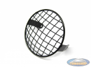 Headlight grill black round 130mm