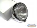 Headlight unit chrome round 130mm