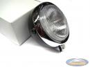 Headlight unit black round 130mm