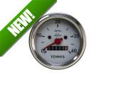 Speedometer miles 60mm 40 mph white Original Tomos